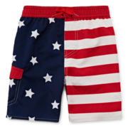 Arizona Stars and Stripes Swim Trunks - Toddler Boys 2t-5t