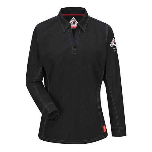 Bulwark® Womens Flame Resistant Long-Sleeve Polo