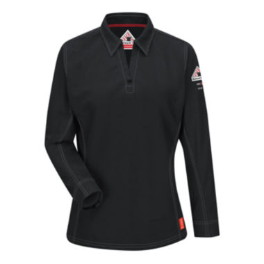 jcpenney.com | Bulwark® Womens Flame-Resistant Long-Sleeve Polo - Plus