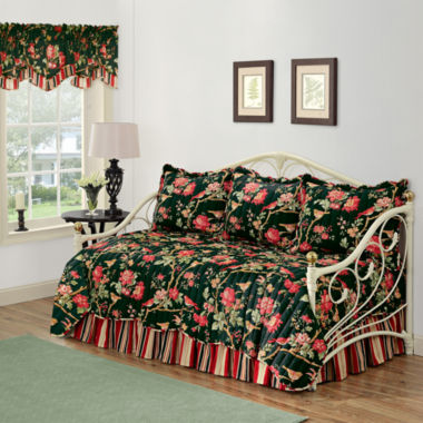 jcpenney.com | Waverly® Charleston Chirp Noir Reversible Daybed Quilt Set