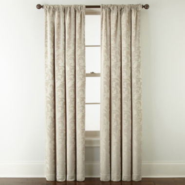 jcpenney.com | Royal Velvet® Chenille Scroll Rod-Pocket/Back-Tab Curtain Panel