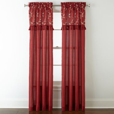 jcpenney.com | Royal Velvet® Encore Leaf Embroidery Rod-Pocket Curtain Panel