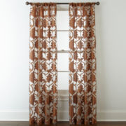 Royal Velvet® Belgravia Rod-Pocket Sheer Curtain Panel