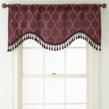 jcpenney.com | Royal Velvet® Geneva Rod-Pocket Scalloped Valance