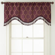 Royal Velvet® Geneva Rod-Pocket Scalloped Valance