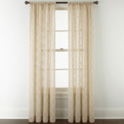 JCPenney Home™ Piper Rod-Pocket Sheer Curtain Panel