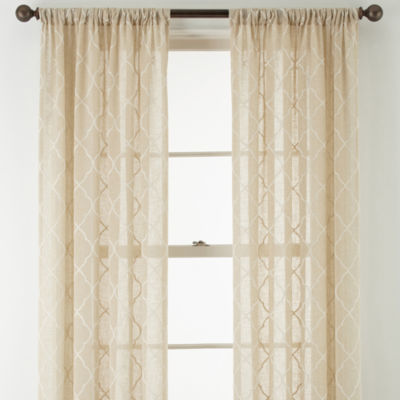 Jcpenney Home Piper Rod Pocket Sheer Curtain Panel Jcpenney