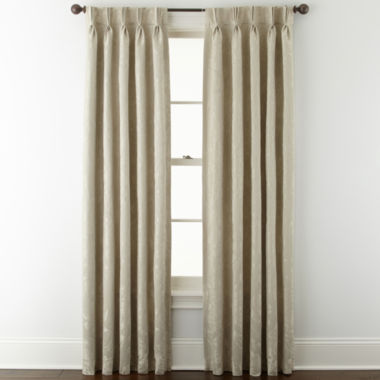 jcpenney.com | Liz Claiborne® Fleur Jacquard Pinch-Pleat/Back-Tab Room-Darkening Curtain Panel
