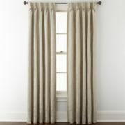 Liz Claiborne® Fleur Jacquard Rod-Pocket Room-Darkening 2-Pack Curtain Panels