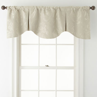 jcpenney.com | Liz Claiborne® Fleur Jacquard Pinch Pleat Rod-Pocket/Back-Tab Scalloped Valance