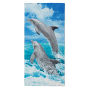 Dolphin Jump Beach Towel