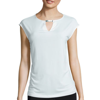 jcpenney.com | Liz Claiborne® Sleeveless Keyhole Top