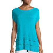 Worthington® Short Sleeve Pullover Top