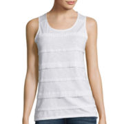 St. John's Bay® Lace Striped Tank Top