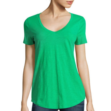 jcpenney.com | Stylus™ Relaxed Fit Slub V-Neck T-Shirt