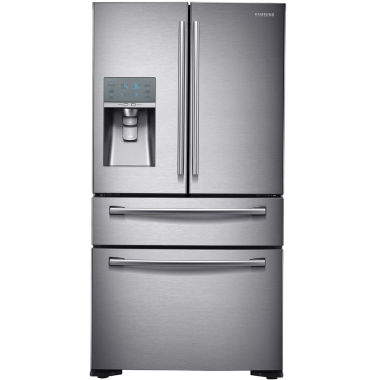 "jcpenney.com | Samsung ENERGY STAR® 22.6 cu. ft. 36"" Wide 4-DoorFrench Door Refrigerator with External Ice & Water Dispenser and FlexZone Drawer Counter Depth"""