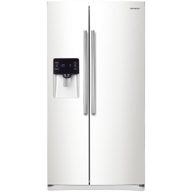 "jcpenney.com | Samsung ENERGY STAR® 24.5 cu. ft. 36"" Wide Side-by-Side Refrigerator with Ice and Water Dispenser """