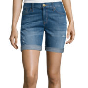 Stylus™ Denim Bermuda Boyfriend Shorts - Tall