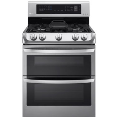 jcpenney.com | LG 6.9 cu. ft. Freestanding Double Oven Gas Rangewith ProBake Convection EasyClean® and UltraHeatPower Burner with Griddle Accessory