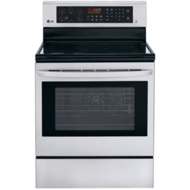 jcpenney.com | LG 6.3 cu. ft. Freestanding Electric Oven Range with True Convection and EasyClean®
