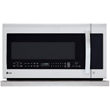Lg 2 2 cu ft over the range microwave oven withextendavent 2 0 easyclean and sensor cook - Red over the range microwave ...