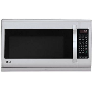 Lg 2 2 cu ft over the range microwave oven with extendavent 2 0 easyclean and sensor cook - Red over the range microwave ...