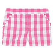 Okie Dokie® Gingham Print Shorts - Toddler Girls 2t-5t