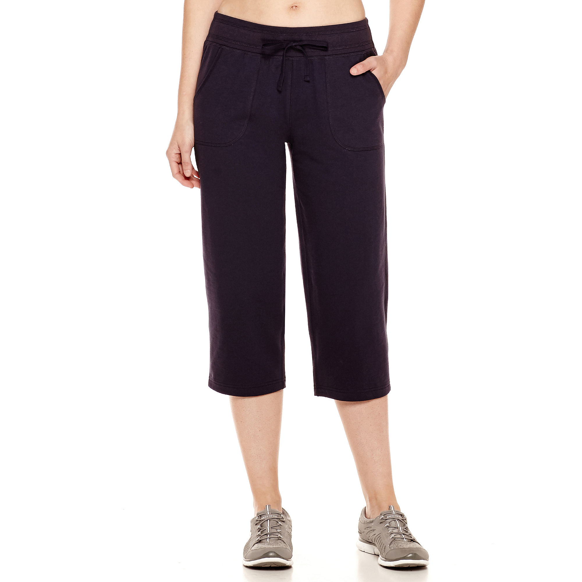 Made for Life™ French Terry Pull-on Capri Pants - Tall plus size,  plus size fashion plus size appare