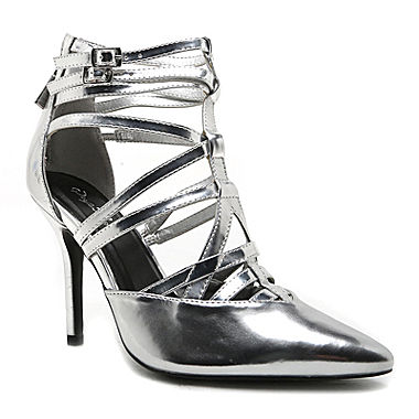 Qupid Mixi Strappy Pointed Toe Pumps
