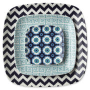 Happy Chic by Jonathan Adler Set of 3 Ceramic Nesting Trays
