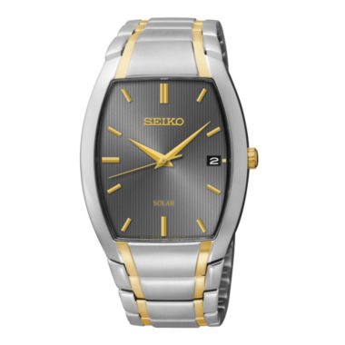 jcpenney.com | Seiko® Mens Two-Tone Stainless Steel Solar Watch SNE334