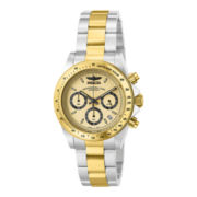 Invicta® Mens Gold-Tone Dial Chronograph Watch