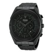 Pulsar® Mens Black Ion Gray Highlighted Chronograph Watch