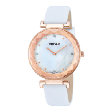 jcpenney.com | Pulsar® Womens Crystal-Accent Rose-Tone Bracelet Watch PM2084