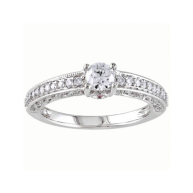 jcpenney.com | Diamond & Color-Enhanced Pink Sapphire Ring