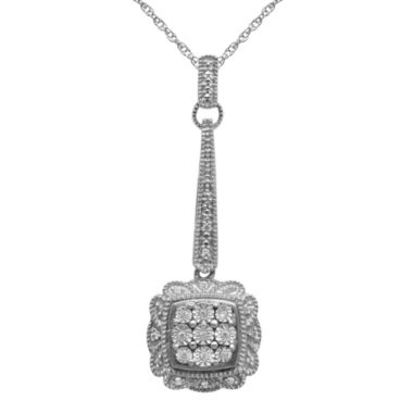 jcpenney.com | 1/10 CT. T.W. Diamond Drop Pendant Necklace