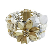 ZOË + SYD Gold-Tone Multi-Row Flower Bracelet