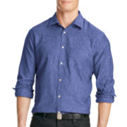 Van Heusen® Linen-Rich Button-Front Shirt