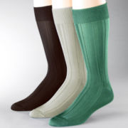 Stacy Adams® 3-pk. Textured Stripe Socks