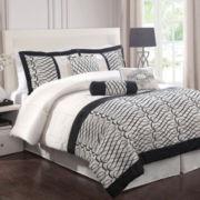 Flocked Bows 7-pc. Comforter Set