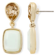 Monet® Mint White Gold-Tone Double-Drop Earrings