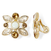 Monet® Multicolor Gold-Tone Clip-On Cluster Earrings