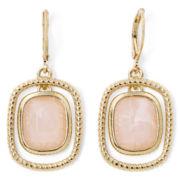 Monet® Rose Stone Orbital Earrings