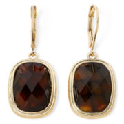 Monet® Tortoise-Look Stone Drop Earrings