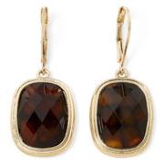 Monet® Tortoise-Look Stone Drop Earrings