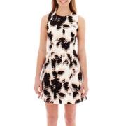 Worthington® Sleeveless Seamed Fitted Dress