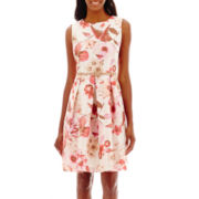 Liz Claiborne® Sleeveless Pleated-Skirt Shantung Dress