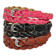 On the Verge 3-pk. Braided Belt - Girls