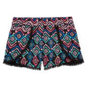 Total Girl® Pom-Pom-Trim Tulip Shorts - Girls 7-16 and Plus