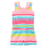 Okie Dokie® Sleeveless Romper - Girls 2t-5t